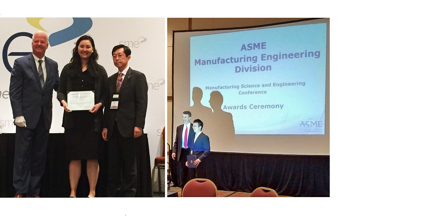 AMPL Members Receive Awards at NAMRC and MSEC 2016